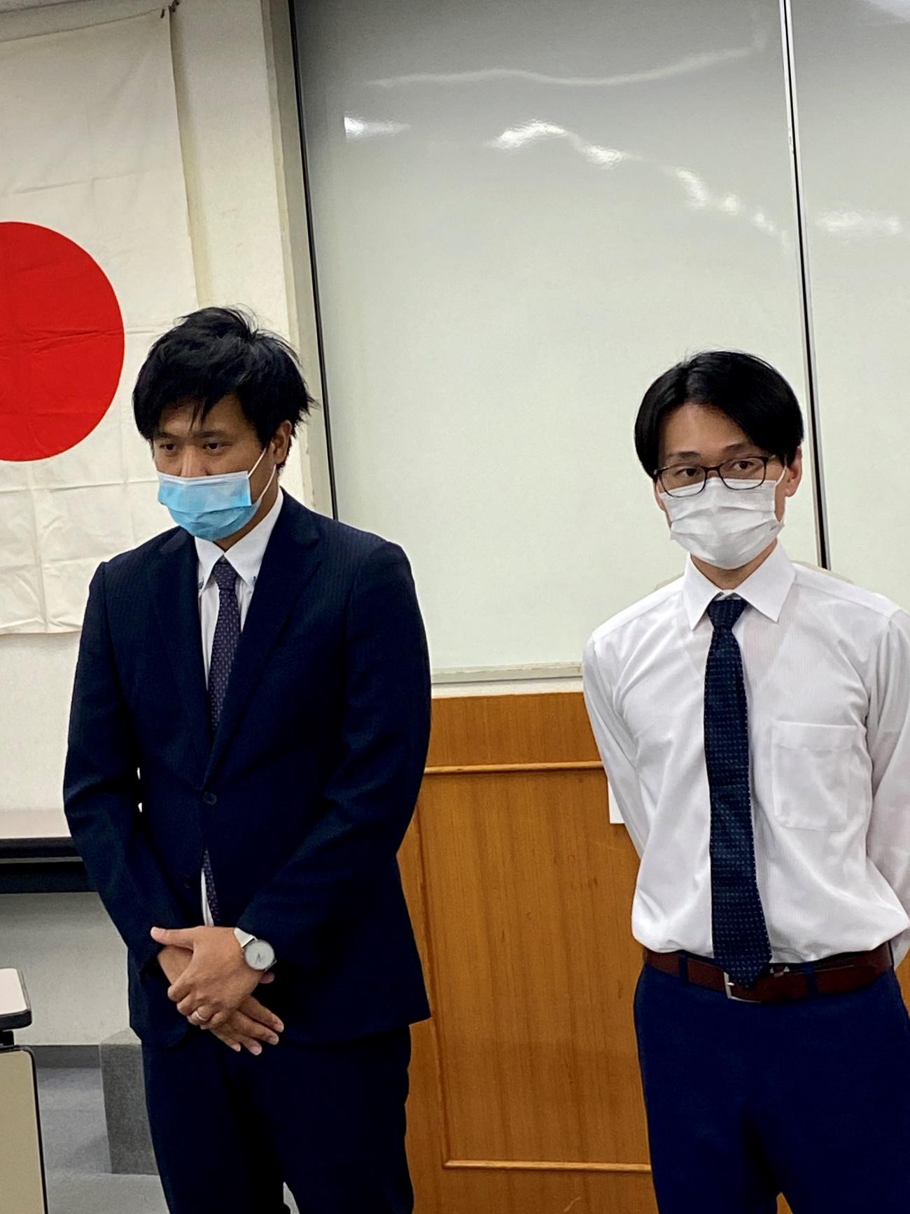 新入会員 小川さんと増渕さん今後ともよろしくお願いいたします。